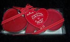 3PC Hallmark Hugs & Kisses Red Cinnamon Scented Candle Set