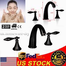 "Roman Oil Rubbed Bronze Style 8"" Widespread Lavatory Vanity Bathroom Sink Faucet"
