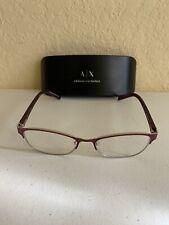 Armani Exchange AX 1010 6050 Satin Berry Eyeglasses Frame 53-16-140mm Reading
