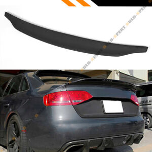 FOR 09-16 AUDI A4 S4 B8 C STYLE POLYURETHANE PU PRIMERED TRUNK LID SPOILER WING
