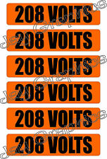 208 Volt Voltage & Conduit Markers | Stickers | Decals | Labels Electrical 6x