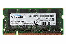 Crucial 2GB PC2-5300S DDR2-667MHz 200PIN SODIMM Laptop Notebook Memory RAM CL5