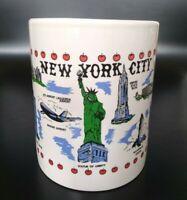 Vintage New York City Landmarks Souvenir Coffee Cup Mug World Trade Center