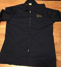 Vintage 50s TOPP MASTER Permanent Press Work Blue Talon Zipper Jacket. Size 42