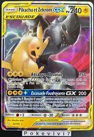 Carte Pokemon PIKACHU ET ZEKROM 33/181 GX Escouade Soleil et Lune 9 SL9 FR NEUF