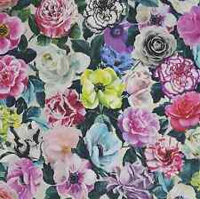 DESIGNERS GUILD FABRIC PANDORA PEONY LINEN VIOLA COLLECTION 100% linen F1956/01