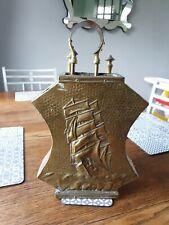 Vintage brass fireside companion set