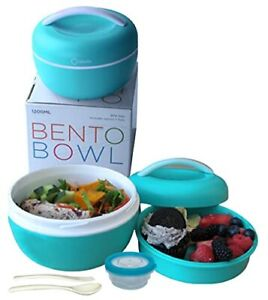 Salad Bento Box, Bowl Container for Lunch To-Go for Unisex  BPA-Free, Blue.