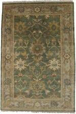 Classic Floral Muted Green 4X6 Oushak Chobi Oriental Area Rug Decor Foyer Carpet