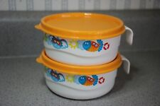 """Tupperware Toddler Stages Bowl #24288 W/Handle & Lid Birds Animals 4 1/4"""" x 2"""""""