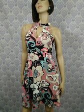 New Womens Sleeveless Dress SZ S 60s Style Mod Floral Print A Line Colori Canada
