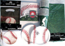 BASEBALL Team - Birthday Party Supply Pack DELUXE Kit w/ Loot Bags & Invites