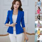 Ladies Women Casual Long Sleeve Slim Work Business Suit Coat Jacket Blazer Tops