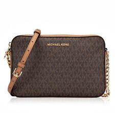 Michael Kors Shoulder Bag Jet Set Item LG Ew Crossbody Braun New