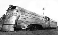 CB&Q Burlington Railroad Photo Aoelus 2 Steanless Steam Locomotive 4001 Train