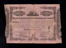 F.C. 500 REALES , BILLETE EQUIVALENTE A MONEDA DE COBRE , 1853 , MBC+ .