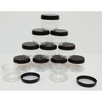 4.2 oz PET Plastic Clear Containers Jars Round Wide-Mouth Brown Cap 12pcs