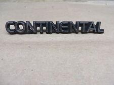 "LINCOLN CONTINENTAL EMBLEM "" CONTINENTAL ""  PLASTIC CHROME OEM 4 inch"