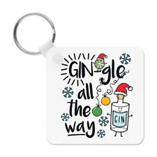 Gin-Gle All The Way Porte-Clés Chaîne Drôle Gin Vive le Vent Noël Père Secret