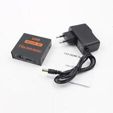 UHD 1x2 Port 3D HDMI Splitter Umschalter Switch Switcher Verteiler 1080p 4K*2K