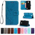 Flip Leather Wallet Cash Cards Holder Stand w/Strap Case Cover For Huawei Ascend