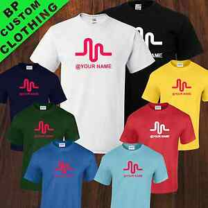 Musically Personalised Fan Tshirt Android Inspired App, 8 colors, Sizes 5-17YRS