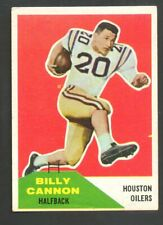 1960 Fleer Football Card #66 Billy Cannon-Houston Oilers-Oakland Raiders.