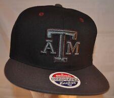 reputable site 2e94c 8296d NWT Texas A M Aggies Adult Snapback Hat TAMU ZEPHYR Z11 Blackout Snapback