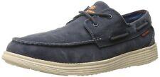 Skechers Mens Navy Blue Relaxed Fit Status Melec Shoes [64644] UK 7 EU 41 RRP£75