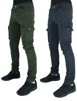 Men's Designer Cargo Combat Pants, Army Military Style, Jeans, Is Money Time