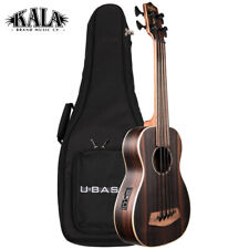NEW Kala U-BASS Striped Ebony Acoustic Electric Satin Finish with Deluxe Gig Bag