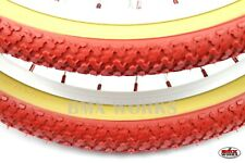 """CST Freestyle Red with Gumwall Sides BMX Tyres 20"""" x 1.75"""" Sold In Pairs"""