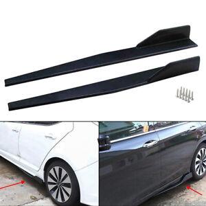 2pcs/Set Universal Black Car/Auto Side Skirt Splitters Winglet Wings Protector