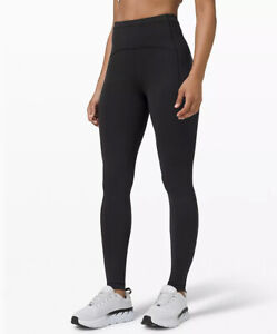 "NEW Lululemon Swift Speed HR Tight Pant  25"" Black Sz 6 NWT ~ BEST DEAL"