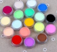 Nail Art 12 Colors Acrylic Crystal Polyme Powder for Liquid Glitter UV GEL UK`