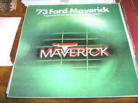 Original 1973 Ford Maverick Sales Brochure 73 Sedan Grabber
