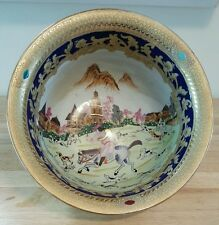 Vintage Antique Collectible Hand Painted Ceramic Bowl Very Rare One Of A Kind