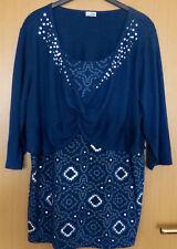 Damen Shirt 3/4 Arm petrol 2-lagenlook Gr. 48/50