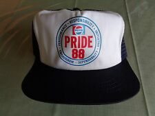 8e28fedf01b Vintage Pepsi Cola Cap Snapback Hat Snap Back Employee Pride 88 white