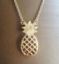 "Pineapple Necklace Fruit Food Tropical 18"" Chain 1"" Charm Cute Friend Hostess"