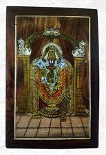 "Thirupati Venkateswara Wooden Wall Hanging 15"" Panel Hindu God Tirupati Balaji"