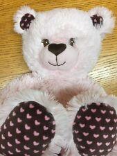 Build a Bear Rose Teddy Avec Cœur Détail