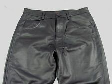 EUC Men Rogue Leather Moto Genuine Leather Black Pants Straight Cut Size 28