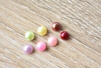 VJ05 Red 100pcs 5x5mm Pearl Round Flatback Rhinestones Jewels Beads