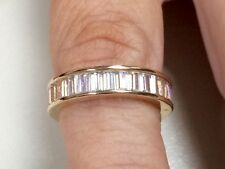Victoria Wieck baguette cut topaz diamond sim10KT gold filled band size 9