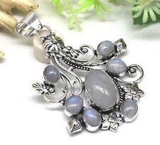 Outstanding Design Rainbow Moonstone Gemstone 925 Silver Jewelry Pendant S 2.50