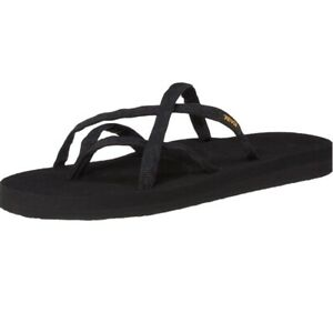 Teva Olowahu Flip Flops Sandals Thongs Women's 10 Black EVA Lightweight Foam NWT
