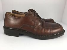 Clarks Italy Men US 8 Brown Leather Round Apron Toe Derby Shoes  J29