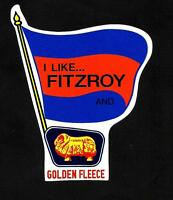 FITZROY & GOLDEN FLEECE Vinyl Decal Sticker PETROL afl vfl LIONS brisbane