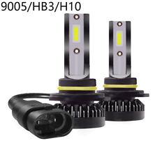 1 Pair 9005/HB3/H10 Mini Car LED Headlight Conversion 6000K White Bulb Headlamps